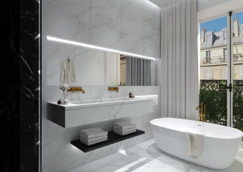 A bathroom at Le Roi de Sicile - Chic Apartment Hotel & Services