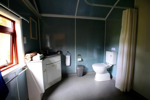A bathroom at Woodlyn Park Motel