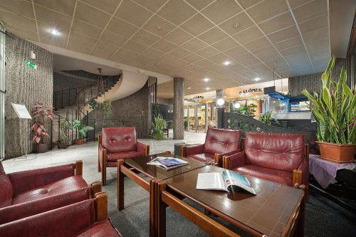 The lobby or reception area at Hotel Kladno