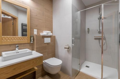 A bathroom at Hotel Foluszowy Potok