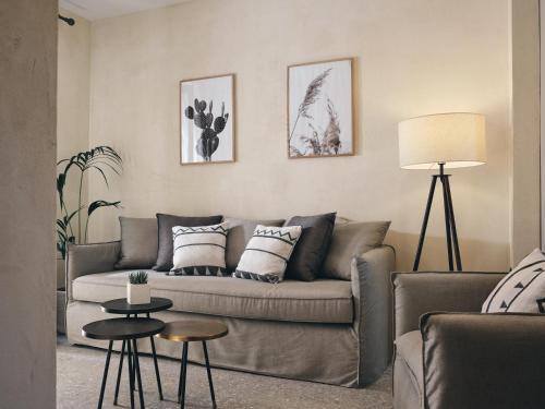A seating area at Casa di Pierro