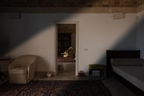 Zona de estar de Masseria Fontana di Vite
