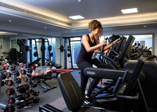 The fitness center and/or fitness facilities at Aztec Hotel and Spa