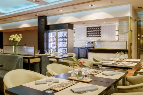 A restaurant or other place to eat at Hilton Budapest
