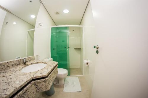 A bathroom at Hotel Recanto Do Rouxinol