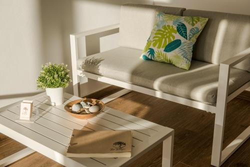 "A seating area at Albergue ""La Yalga"""
