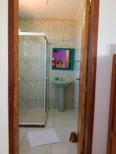A bathroom at Casa do Professor