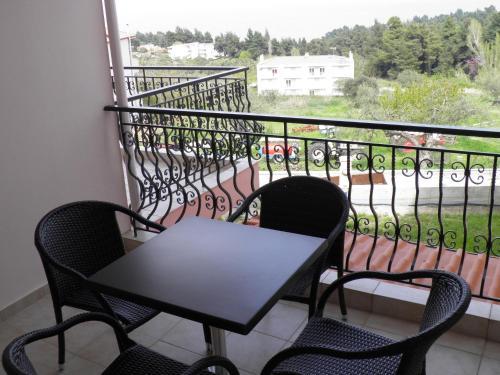 A balcony or terrace at Anatolia Studios