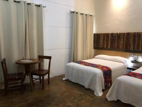 Cama o camas de una habitación en Casa Sisal Valladolid Yuc