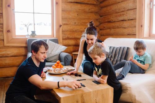 A family staying at Jaunlidumnieki