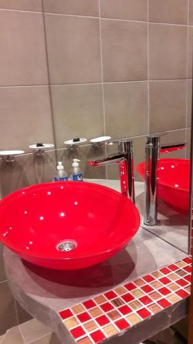 A bathroom at Los Perales