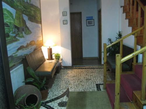 Uma área de estar em Casa Morgado