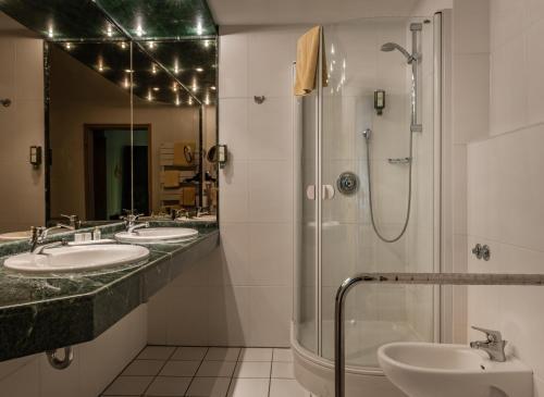 Ein Badezimmer in der Unterkunft Landhaus Sonnenhof