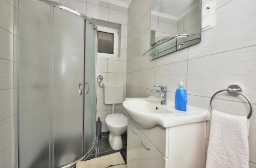 A bathroom at Apartments Song of Joys