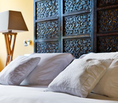 Cama o camas de una habitación en La Casona del Viajante - Adults Only