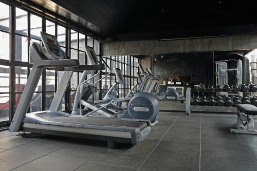 The fitness center and/or fitness facilities at URBN Boutique Shanghai