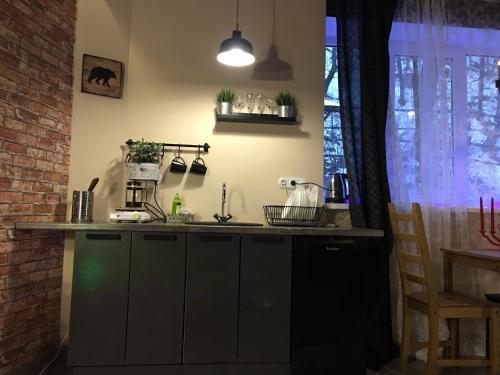 Кухня или мини-кухня в Apartment Zebra