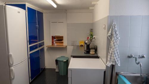 A kitchen or kitchenette at Ferienhaus Septimer