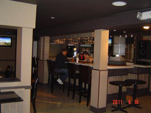 The lounge or bar area at Barclay Hotel