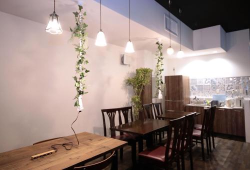 トリップ&スリープ ホステルにあるレストランまたは飲食店