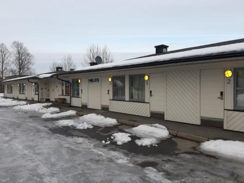 Motell Holms Lier Sør during the winter