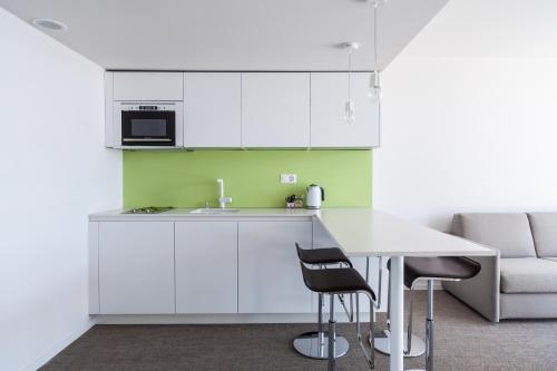 Küche/Küchenzeile in der Unterkunft Hotel Lavaux