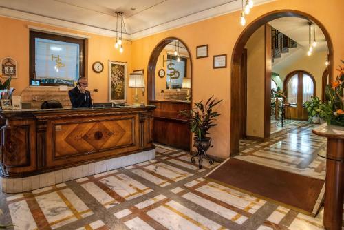 The lobby or reception area at Hotel Santa Prisca
