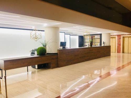 The lobby or reception area at Oca Puerta del Camino Hotel