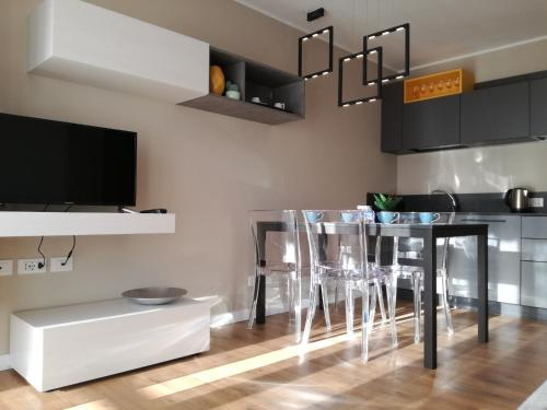 A television and/or entertainment centre at Casa Lu