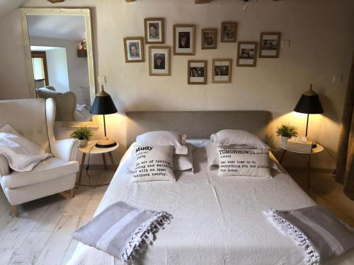 A bed or beds in a room at B&B Cormondreche