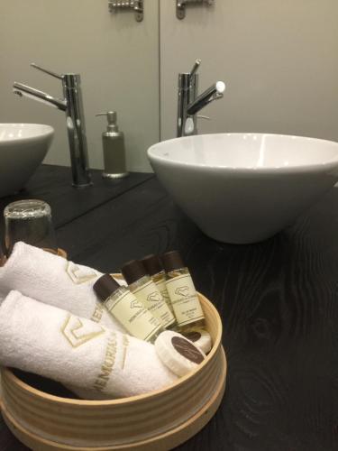 A bathroom at Casa de Campo Memórias da Comarca