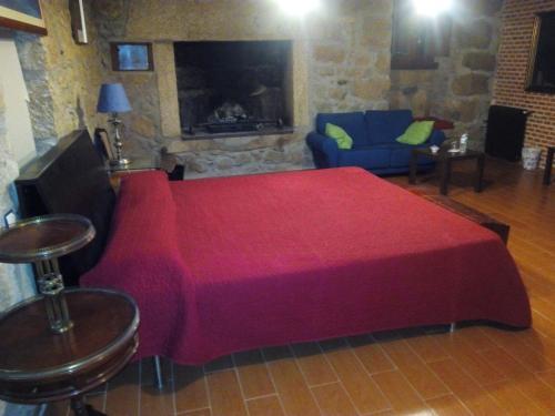 Cama o camas de una habitación en Posada Palacio Manjabalago