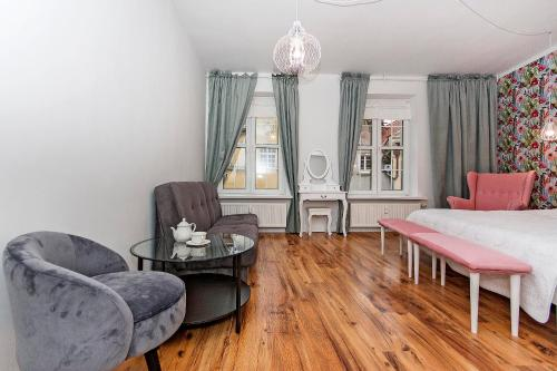 Część wypoczynkowa w obiekcie Quality Apartments-Apartament Prestige - Old Town