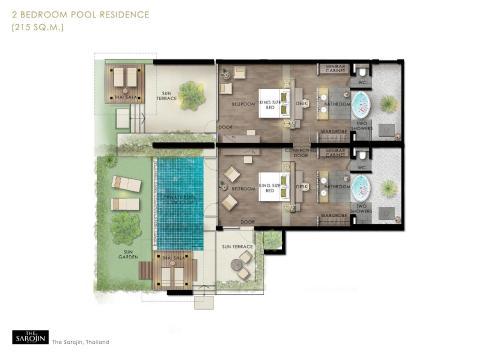 The floor plan of The Sarojin
