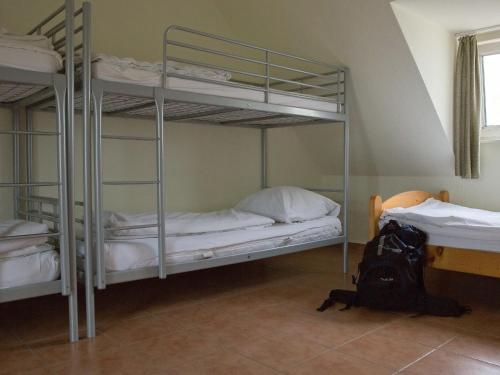 A bunk bed or bunk beds in a room at Wanderlust Hostel