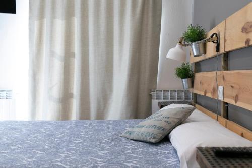 Cama o camas de una habitación en Gran Vivienda Centro Historico San Lorenzo