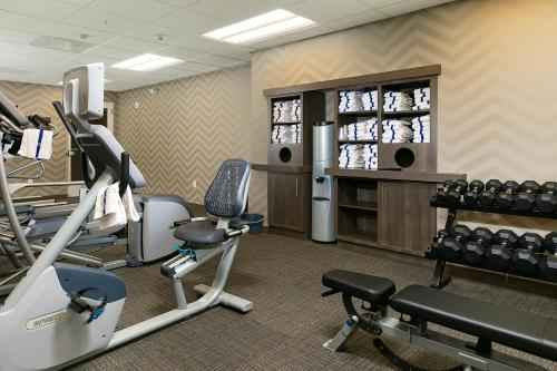 The fitness center and/or fitness facilities at Residence Inn by Marriott Decatur Forsyth