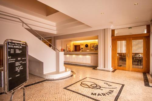 The lobby or reception area at Hotel Marina Rio