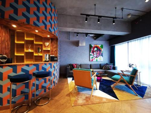 The lounge or bar area at Ovolo Southside