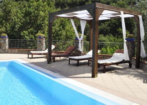 The swimming pool at or near Borgo San Francesco