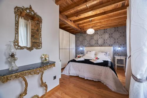 A bed or beds in a room at Casa Entera A Ferradura