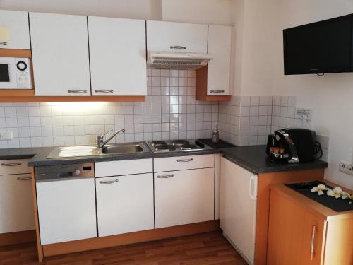 Küche/Küchenzeile in der Unterkunft Apart Alba