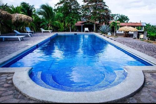 The swimming pool at or near El Mirador Ecológico, Ometepe