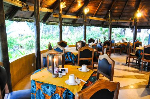 A restaurant or other place to eat at Ankobra Beach Resort