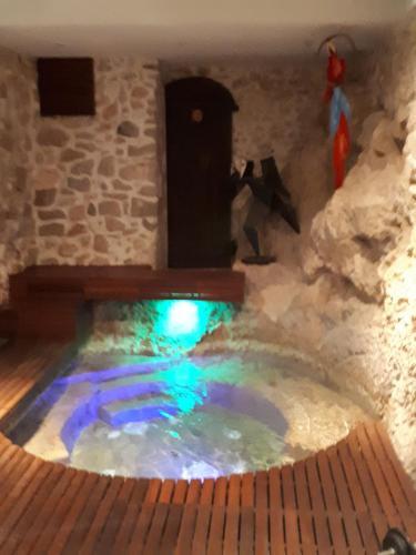 The swimming pool at or near La Luna B&B