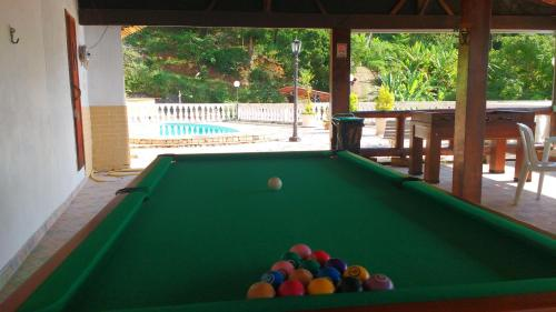 A pool table at Vale dos Baroes