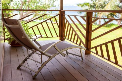 Uma varanda ou terraço em TAHAA - Villa Tehere Dream