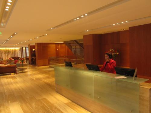 El vestíbulo o zona de recepción de Time Select