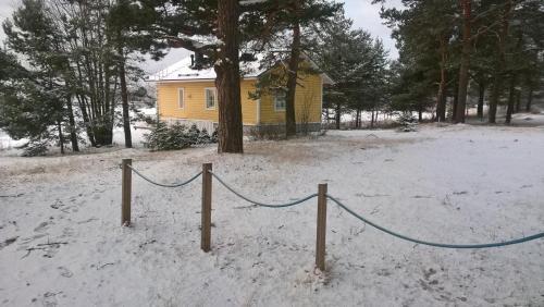 Yyterin Villa Pyrylä during the winter