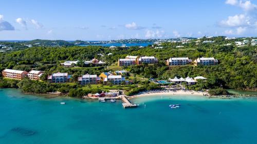 A bird's-eye view of Grotto Bay Beach Resort